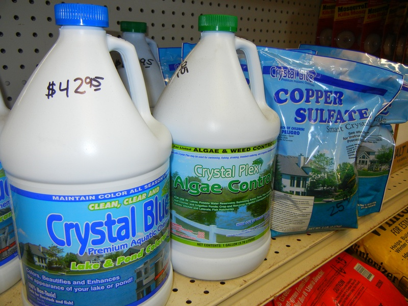Pond dyes and fertilizers