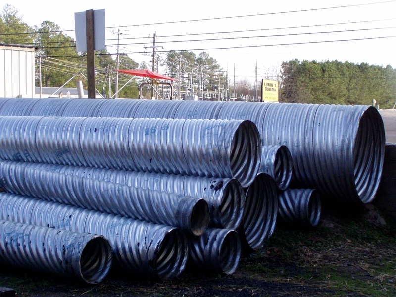 Driveway Pipe - Galvanized and Coated